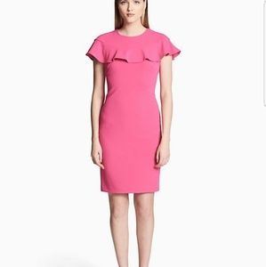 NWT Black Calvin Klein flutter sleeve dress sz 10
